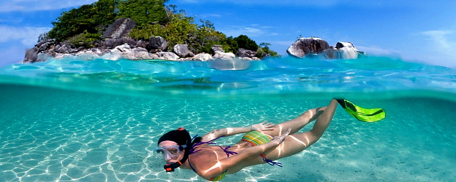 Snorkelling off Sakatia island