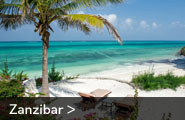 Tropical white beaches on Zanzibar Island