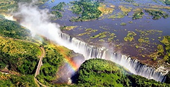 Victoria Falls - one of the three greatest waterfalls in the world