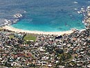 Aerial view of Camps Bay beach - Cape Town coach tours
