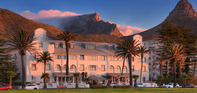 Winchester Mansions below the Table Mountain's cable station