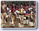 Traditional Swazi cultural dancers of Swaziland