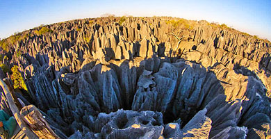 Madagascar Holiday Island - Tsingy Rock formation at Bemaraha