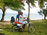 Freedom of a motor bike on Sainte Marie Island