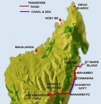 Northern Madagascar Map