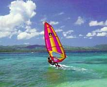 Learn to windsurf on Holiday in Mauritius