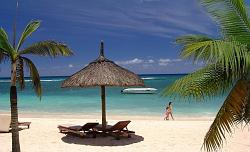 Mauritius beaches are beautiful and long walks can be enjoyed