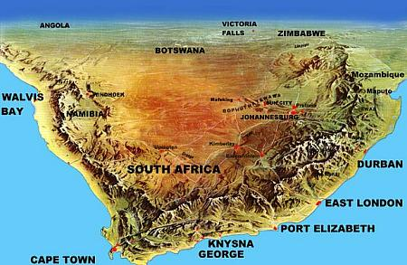 South African Road Maps Self Tours - South africa map
