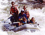 White water rafting with the family on the more gentle section of the Zambezi