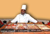 Boma Chef with a variety of Wild Game meats