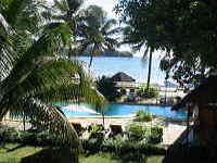 Nosy Be Hotel garden & pool over looking Nosy Tanga