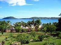 Vanlla Hotel Nosy Be island Madagascar looking towards the island of Nosy Sakatia