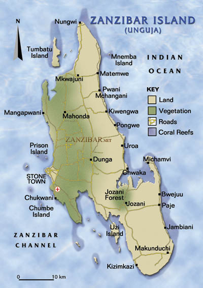 World Map Zanzibar